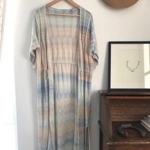 Anthropologie Knitted & Knotted Ombré Duster